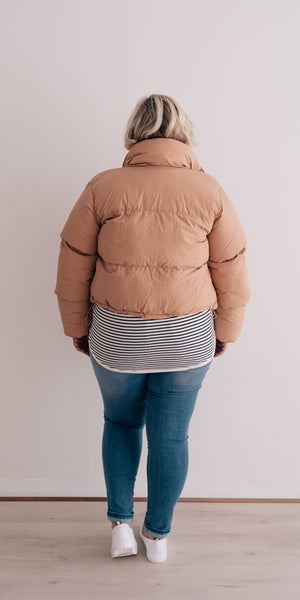 Topher puffer jacket - bisque