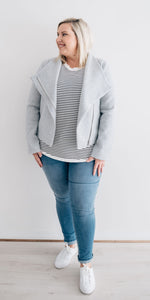 Portia jacket - grey marle