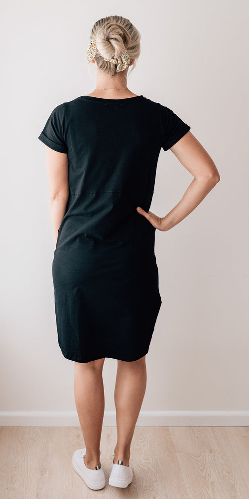 Sophie tee dress - black