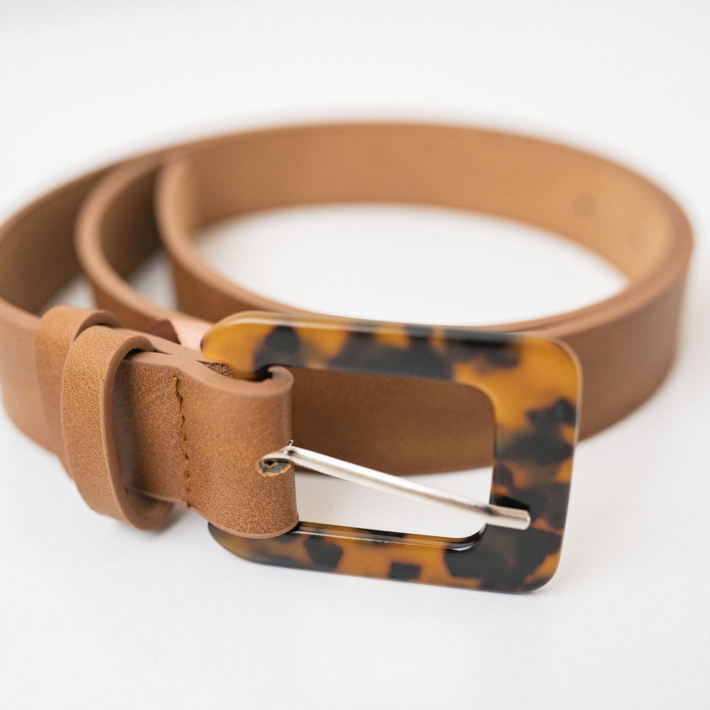 Jules belt - tan/tort