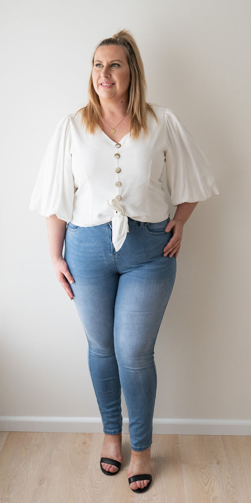 Melody top - white