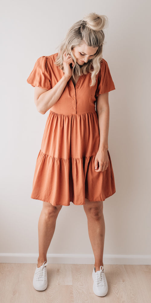 Athena dress - rust