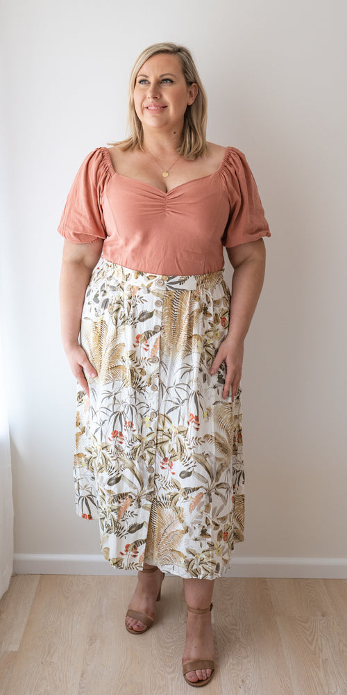 Sutton skirt - tropical