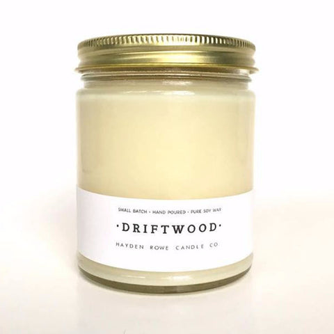 Driftwood Scented Soy Candle Hayden Rowe Candle
