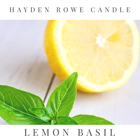 Lemon Basil Scented Wax