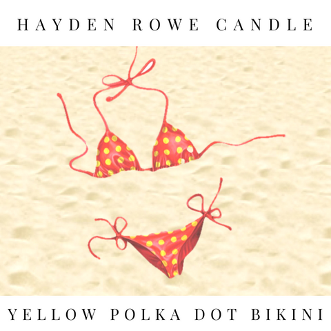 Yellow Polka Dot Bikini Scented Wax