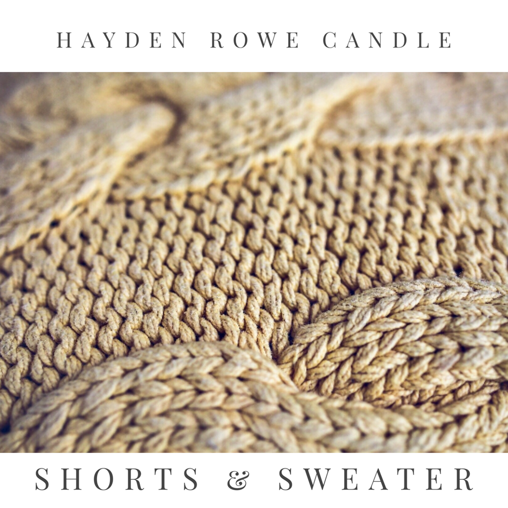 Pre-order Shorts and Sweater Scented Wax