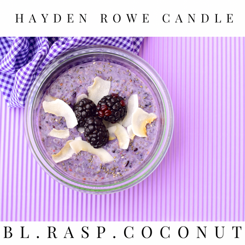 Black Raspberry Coconut Scented Wax