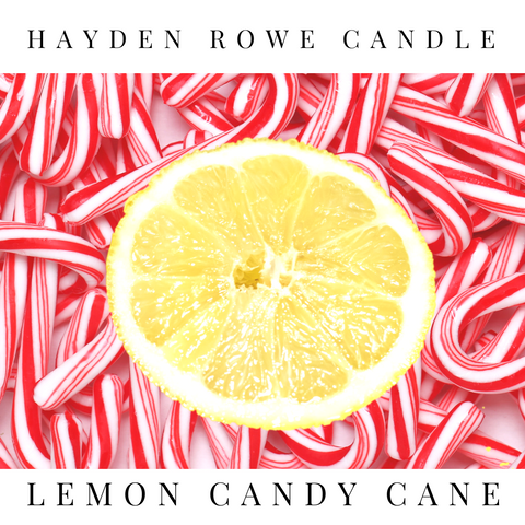 Lemon Candy Cane Scented Wax