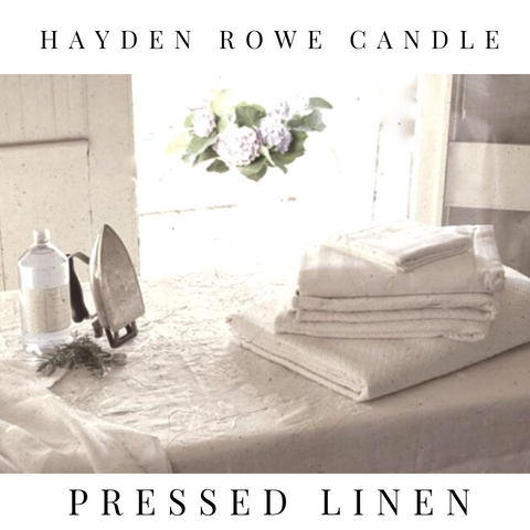 Pressed Linen Scented Wax