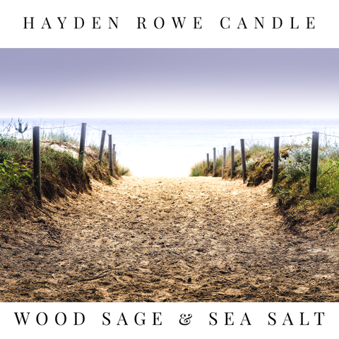 Wood Sage and Sea Salt Scented Wax