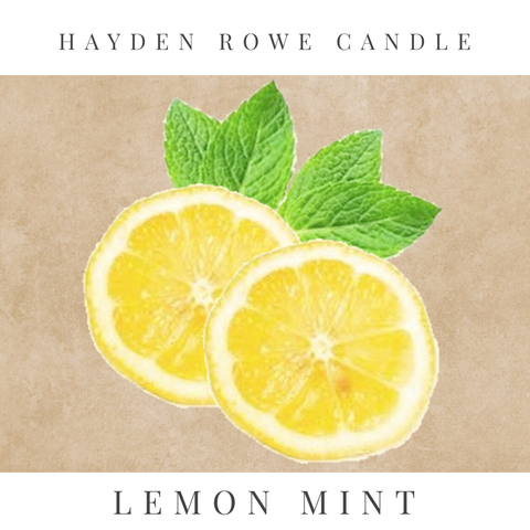 Lemon Mint Scented Wax