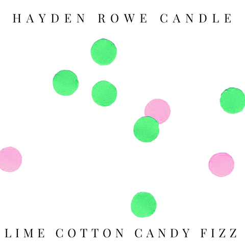Lime Cotton Candy Fizz Scented Wax