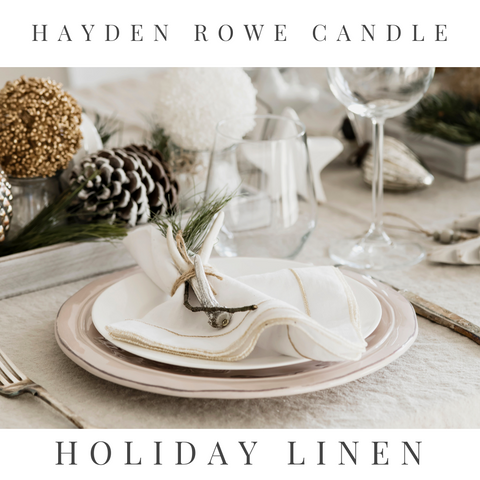 Holiday Linen Scented Wax