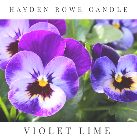 Violet Lime Scented Wax