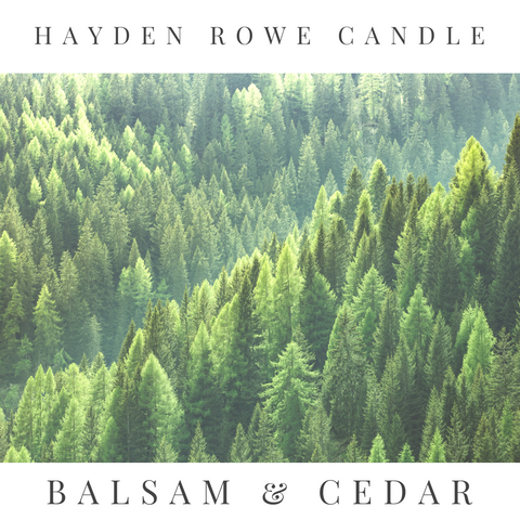 Balsam and Cedar Scented Wax