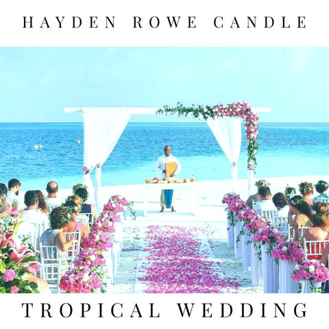 Tropical Wedding Scented Wax