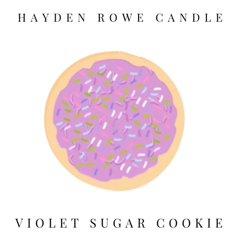 Violet Sugar Cookies Scented Wax