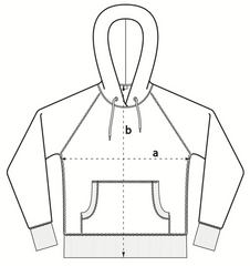 Hooded Sweater - Size Chart