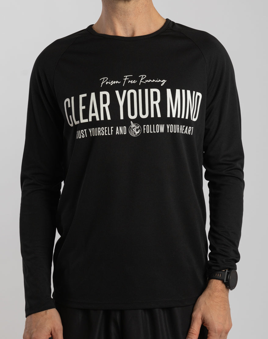 """""""Clear Your Mind"""" Racing Longsleeve (Black)"""