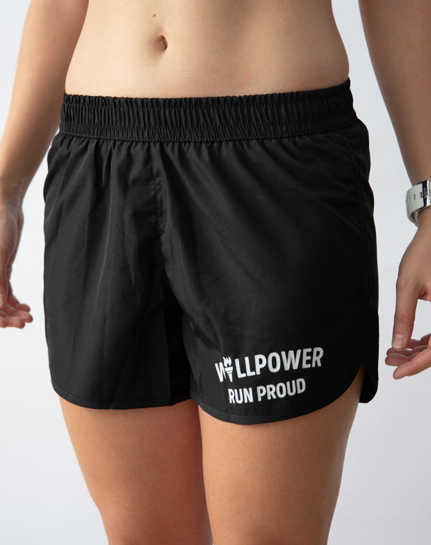 """Run Proud"" Racing Shorts (Women)"
