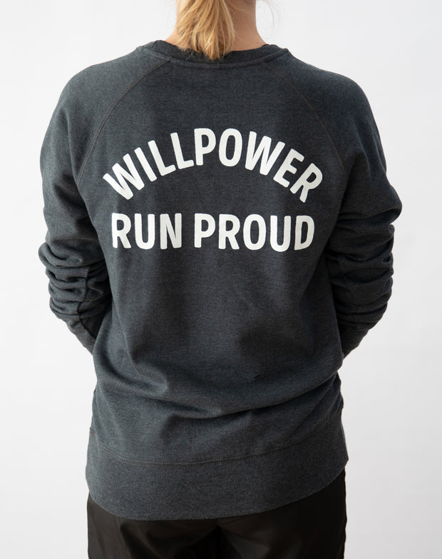 """Run Proud"" Sweater (Dark Grey)"