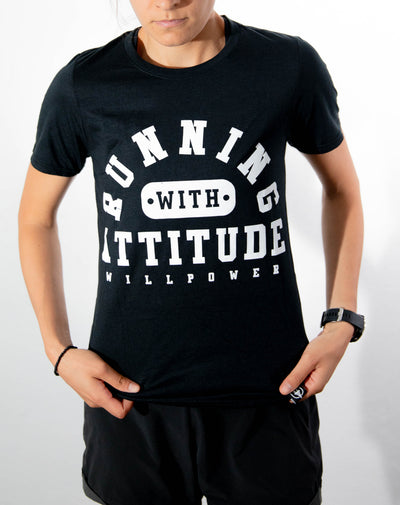 """Running With Attitude"" Women Shirt (Black)"
