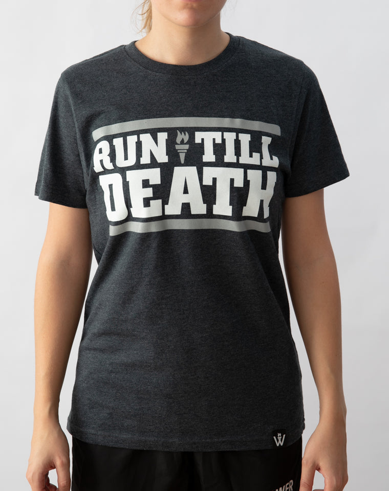 """Run Till Death"" T-Shirt (Limited Grey)"