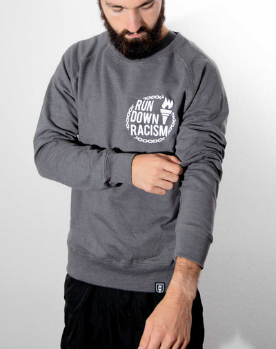 """Run Down Racism"" Sweater (Light Grey)"