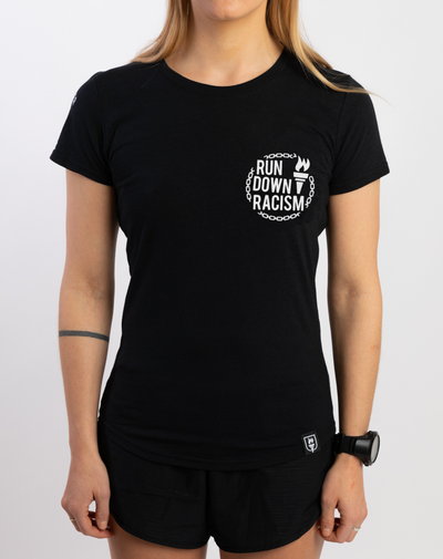 """Run Down Racism"" Athleisure Shirt (Women)"