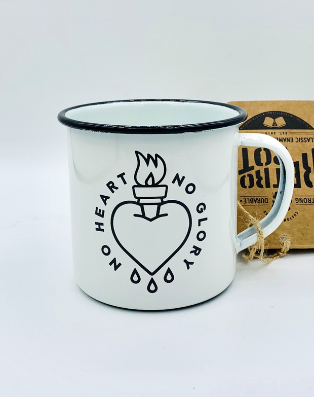 """No Heart No Glory"" Outdoor Mug"