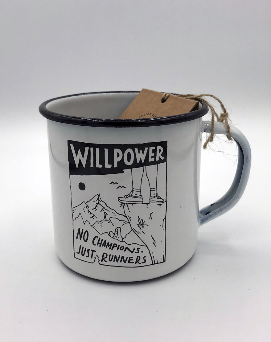 """No Champions - Just Runners"" Outdoor Mug"