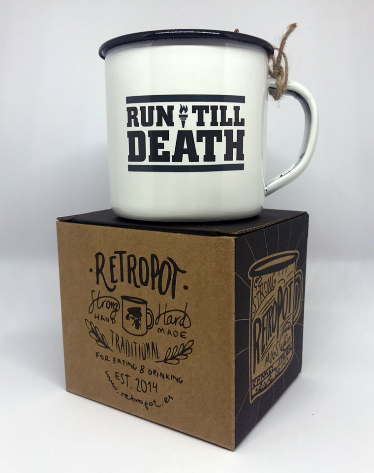 """Run Till Death"" Outdoor Mug"