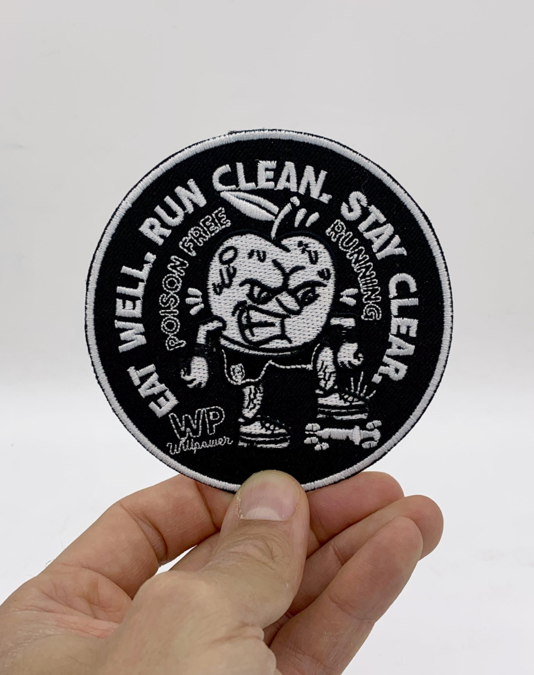 """""""Eat Well - Run Clean- Stay Clear"""" Patch"""