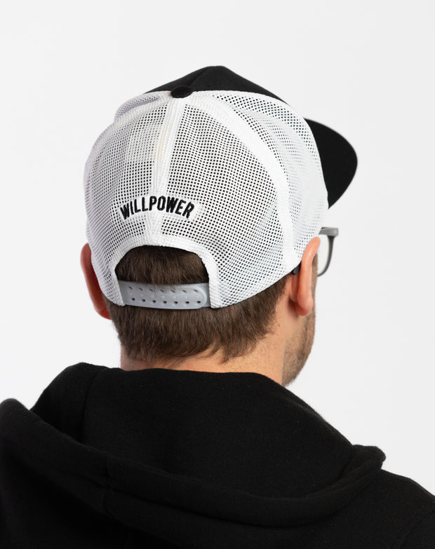 Willpower Flexfit Mesh Cap (White)