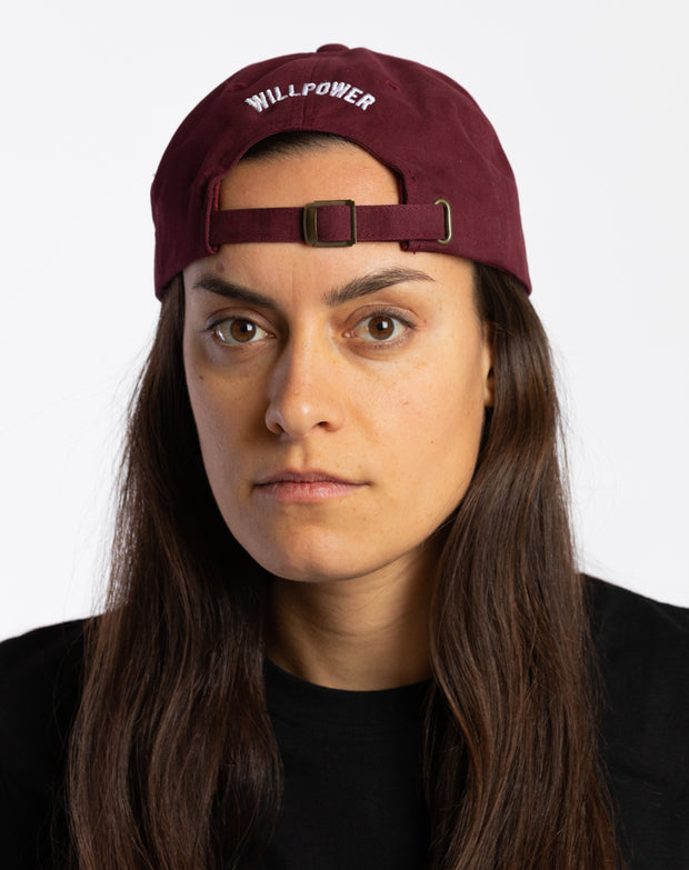 Willpower Dad Cap (Maroon)