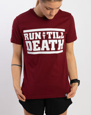 """Run Till Death"" Cotton T-Shirt (Ltd. 90s Color)"