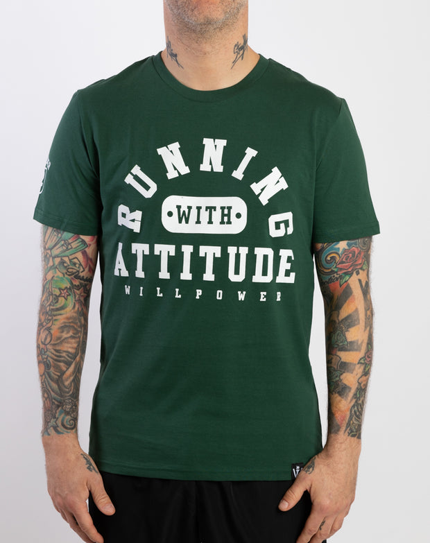 """Running With Attitude"" Cotton T-Shirt (Ltd. 90s Color)"