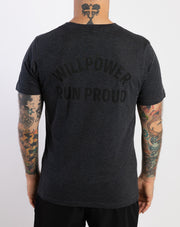 """Run Proud"" Athleisure T-Shirt (black / dark grey)"