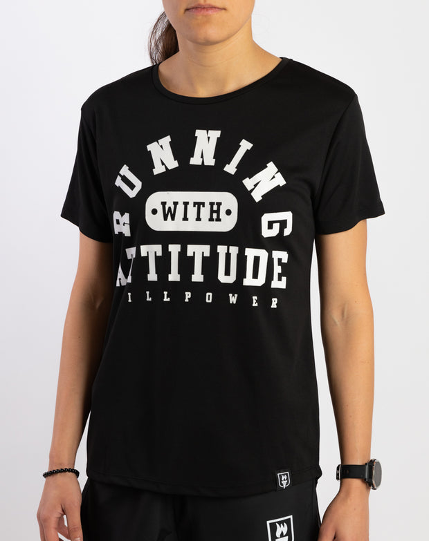 """Running With Attitude"" Racing T-Shirt (Women)"