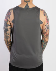 """Running With Attitude"" Racing Tanktop (Grey)"