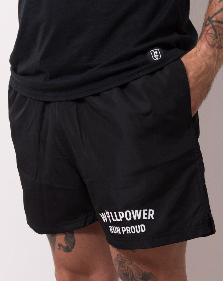 """Run Proud"" Racing Shorts"
