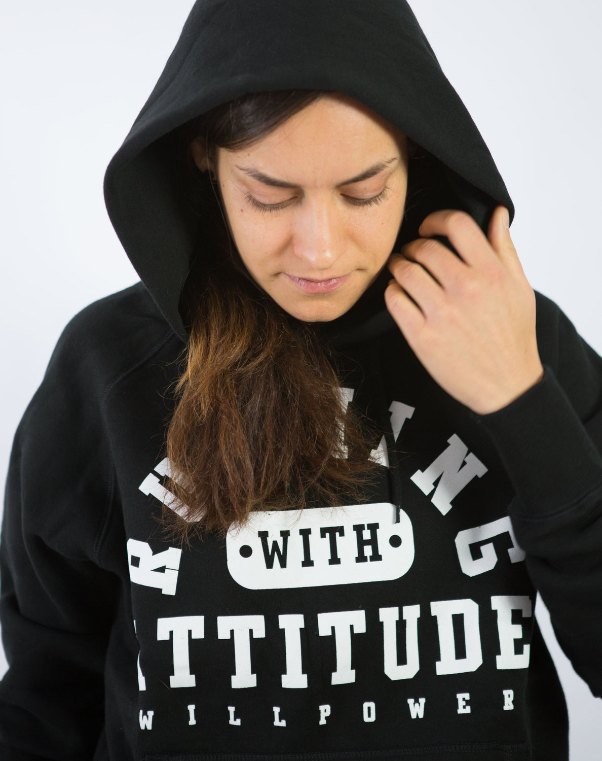 """Running With Attitude"" Hoodie (Black)"