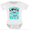 2 pack Adorable Baby Bodysuits. Perfect Gift!! My Nanny Loves Me.