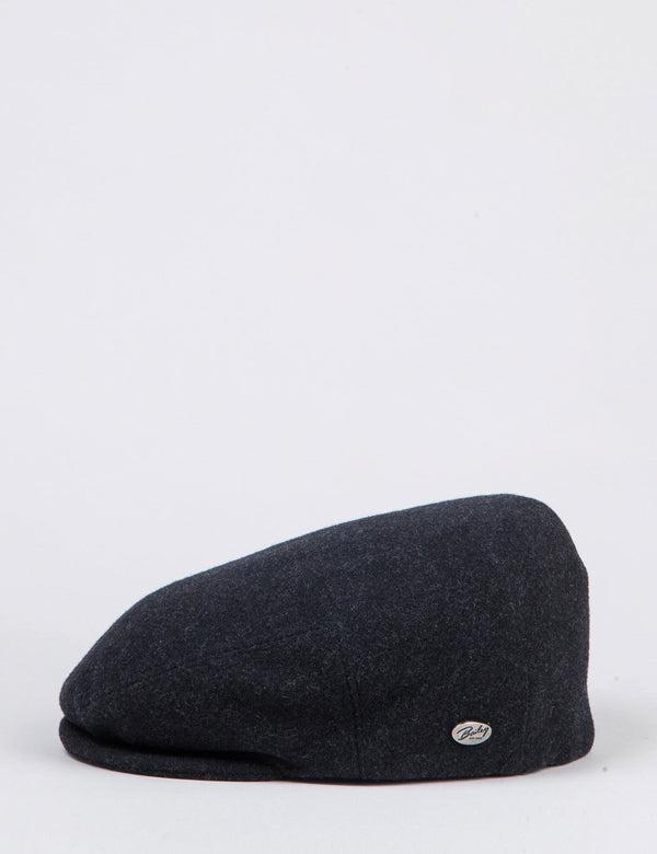 Bailey Lord Solid Ivy Flat Cap - Charcoal Grey