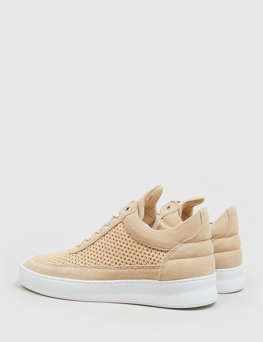 Filling Pieces Low Top Fundament (Suede) - Sand