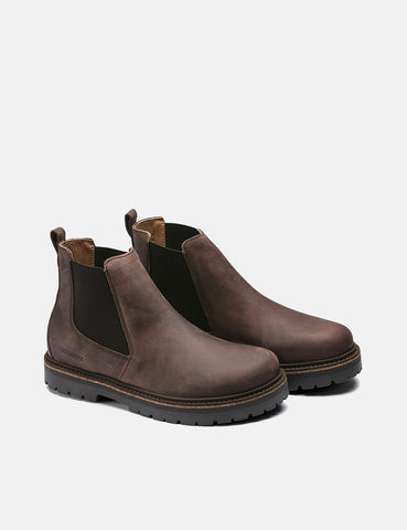 Birkenstock Stalon Boot (Regular, Nubuck Leather) - Mocha
