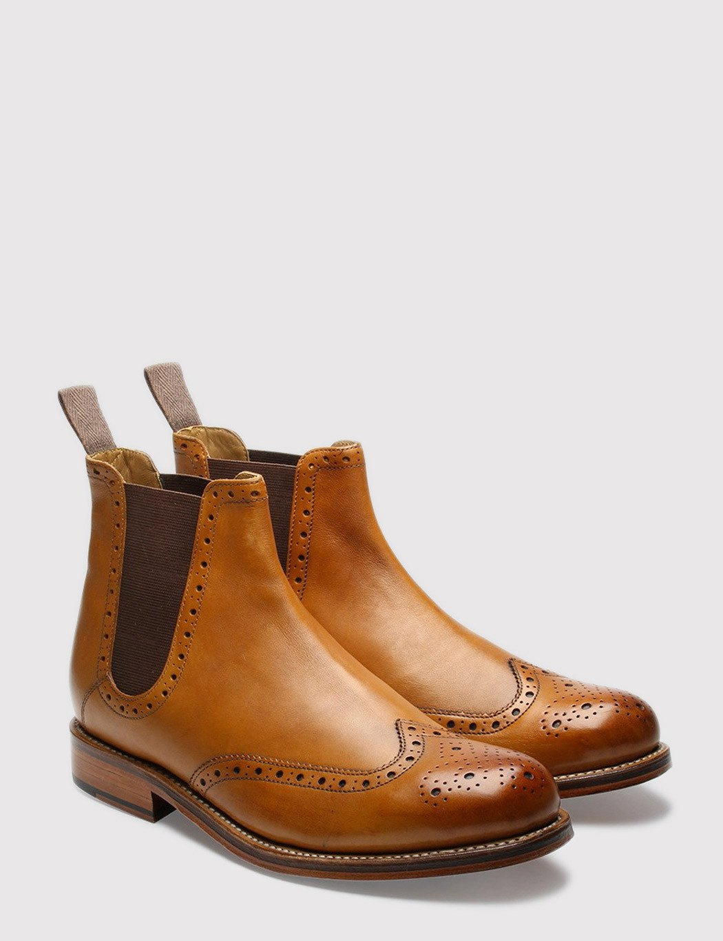 Grenson Jacob Calf Chelsea Boots - Tan