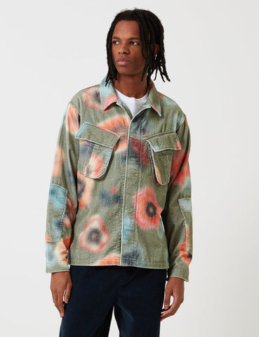 Stussy Velveteen Jungle Long Sleeve Shirt - Floral