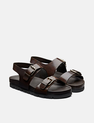 Grenson Lennox Sandal (Leather) - Dark Brown